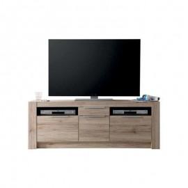 Mobile porta tv 3 ante 1 cassetti rovere sanremo chiaro 161x40xh.59 cm