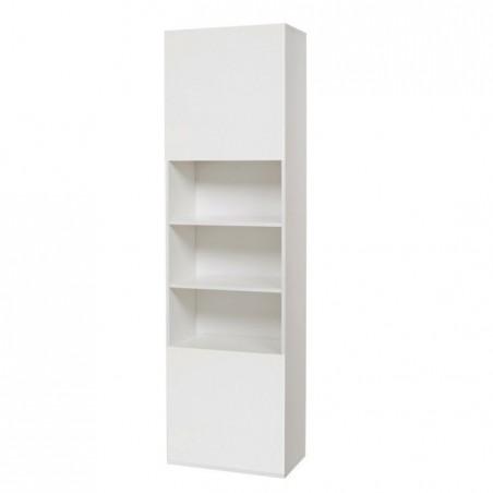 Colonna libreria bianco frassinato legno nobilitato c/ante Cm 60x32xH 210