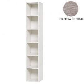 Pensile Libreria larice grigio 6 ripiani s/anta Cm 30x30xH 180