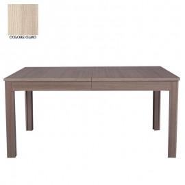 Tavolo rettangolare allungabile con 8 gambe 4 all. olmo cm 90x160/332 cm