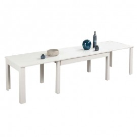 Tavolo legno salotto sala da pranzo estensibile Bianco 160x90xh76 cm
