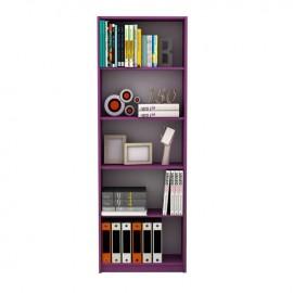 Libreria scaffale 5 ripiani colore viola cm 58x23xh.170