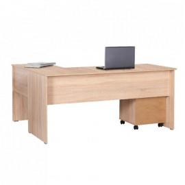 Scrivania grande angolare da ufficio in legno nobilitato sonoma cm 160x144xh.75