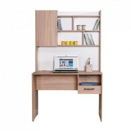 Scrivania con libreria e cassetto colore sonoma 105x55xh.174