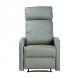 Poltrona relax alzapersona in ecopelle grigio con motore 67x94xh.101 cm