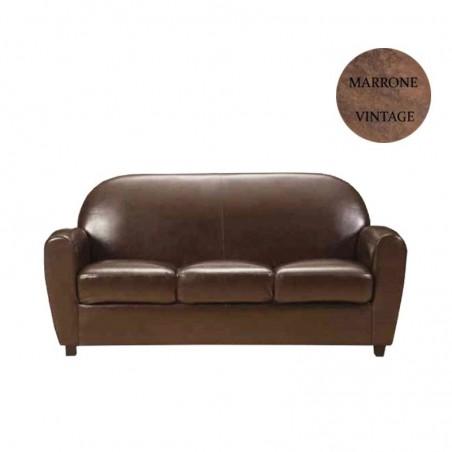 divano 3 posti marrone