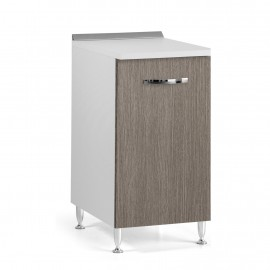 Mobile base  per cucina Larice Grigio 1 anta Cm 40x50xH 85