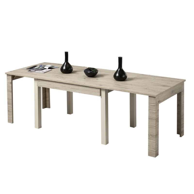 Tavolo completamente estensibile color eRovere Bordeaux 160x90xh76 cm