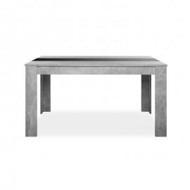 Tavolo da pranzo colore cemento inserto nero o bianco reversibile 138x80xh.74 cm