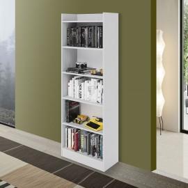 mobile-libreria-6-ripiani-bianco-frassinato