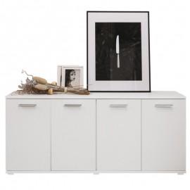 mobile-multiuso-4-ante-bianco-frassinato-legno-nobilitato