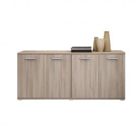 Mobile multiuso legno nobilitato  arredo soggiorno olmo 180x45xh.80 cm
