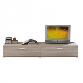 Mobile base legno nobilitato da soggiorno olmo 2 ribalte  240x45xh.39 cm