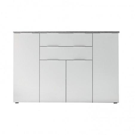mobile-da-soggiorno-4-ante-2-cassetto-bianco-top-in-cemento