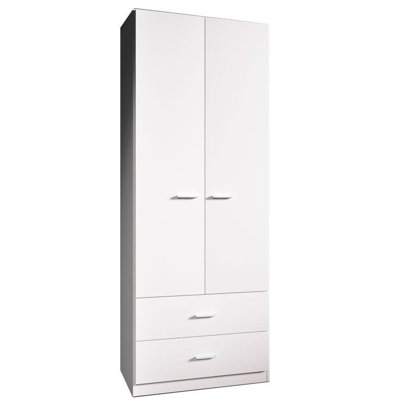 armadio-da-camera-2-ante-2-cassetti-bianco-larice