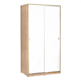 armadio-2-ante-scorrevoli-5-ripiani-sonoma-bianco