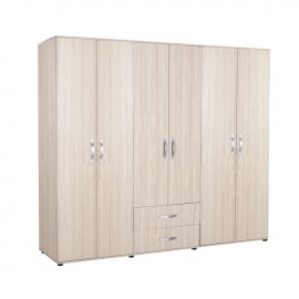armadio-guardaroba-6-ante-2-cassetti-olmo-chiaro