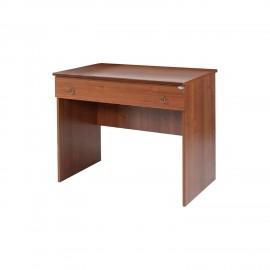 Scrivania da camera in legno nobilitato Noce antico 1 cassetto 90x56xH.75 cm