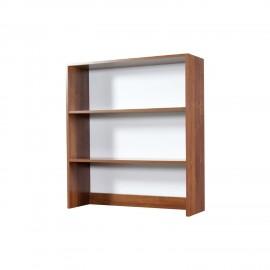 Libreria da appoggio per scrivania 2 ripiani noce antico h.105x90x29 cm