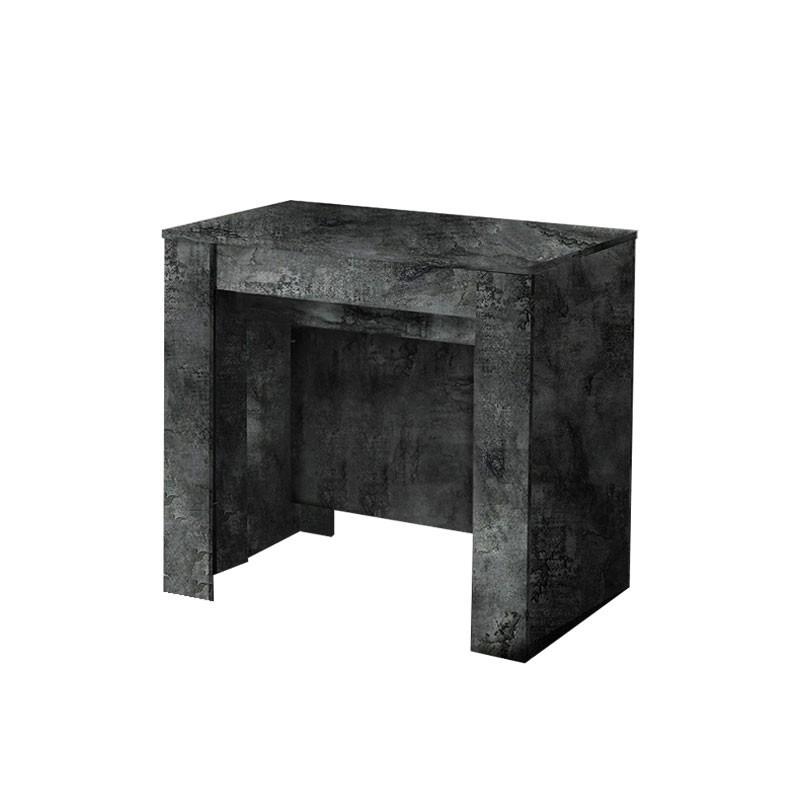 Tavolo consolle con 4 allunghe colore ossido 78.5x54xh.78 cm