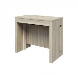 Tavolo consolle con 5 allunghe colore olmo 90x47xh.76 cm