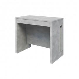 Tavolo consolle con 3 allunghe finitura cemento 90x47xh.76 cm