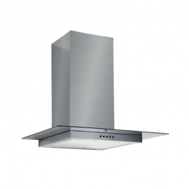 Cappa aspirante in acciaio e vetro a parete e lampada alogena 60x50cm