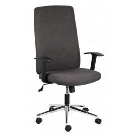 Poltrona   direzionale ufficio scrivania tessuto grigio oscillante