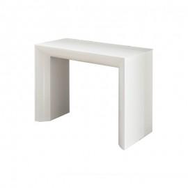 Tavolo consolle con 5 allunghe bianco lucido 90x48/281xh.76 cm