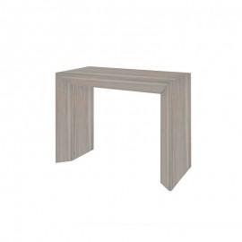 Tavolo consolle con 5 allunghe finitura olmo 90x48xh.76 cm