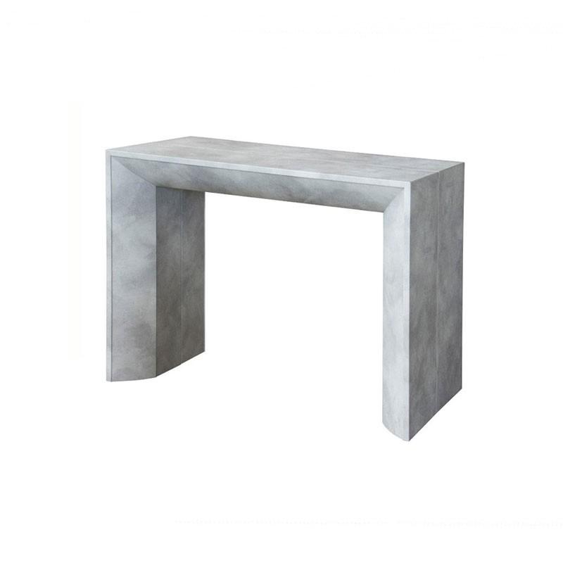 Tavolo consolle con 5 allunghe finitura cemento 90x48xh.76 cm