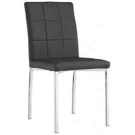 Sedia design per salotto in ecopelle gambe metallo