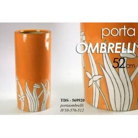 Portaombrelli arancione in ceramica salvaspazio cm 52 h