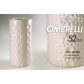 Portaombrelli in ceramica beige h 52 cm
