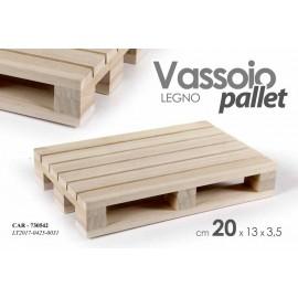 Vassoio in legno mini pallet 20 x 13 x 3.5 h