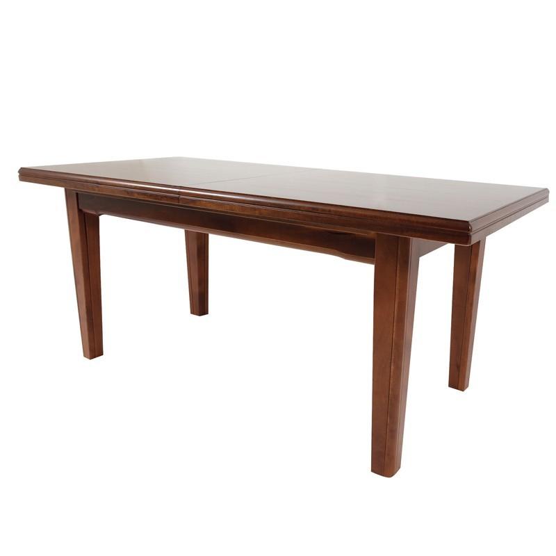 Tavolo in legno massello rettangolare allungabile colore for Tavolo rettangolare allungabile