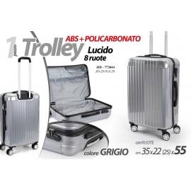 Valigia trolley in abs e policarbonato cm 35 x 22 x 55 h con ruote