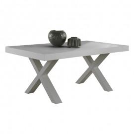Tavolo con piano in folding cemento 2 allunghi laterali 180/280x100xh.75 cm
