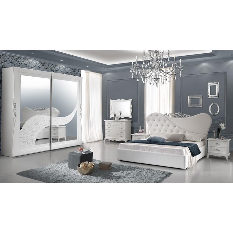 Camera da letto matrimoniale giselle bianca completa - WebMarketPoint.it