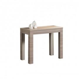 Tavolo consolle con 5 allunghe rovere 90x50/300xh.76 cm