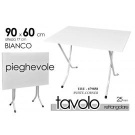 Tavolo pieghevole bianco slim  pic nic 90 x 60 rettangolare