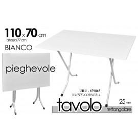 Tavolo pieghevole bianco esterno interno  portatile 70 x 110