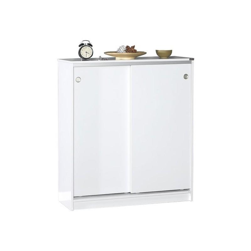 Mobili Da Cucina Con Ante Scorrevoli.Mobile Scarpiera Multiuso Bianco 2 Ante Scorrevoli Cm 91x37xh 105