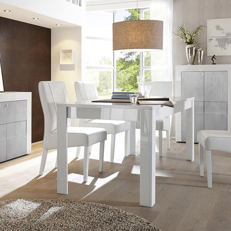 Tavolo Bianco Laccato Lucido Allungabile.Tavolo Allungabile Finitura Bianco Laccato Lucido 90x137xh 79 Cm
