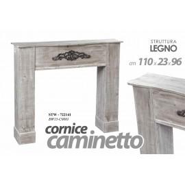 Cornice finto camino shabby  cm 110x23x96 caminetto