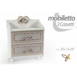 Cassettiera portaoggetti shabby idea regalo cm 30 x 15 x 39 h