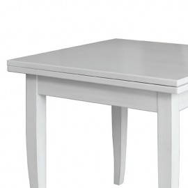 Tavolo In Legno Quadrato Allungabile.Tavolo In Legno Massello Quadrato Allungabile Colore Bianco 90x90