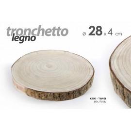 Tronchetto in legno vassoio utensile cucina sottopiatto cm 28