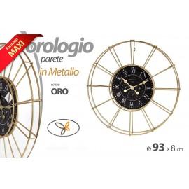Orologio decorativo design da parete oro cm 93