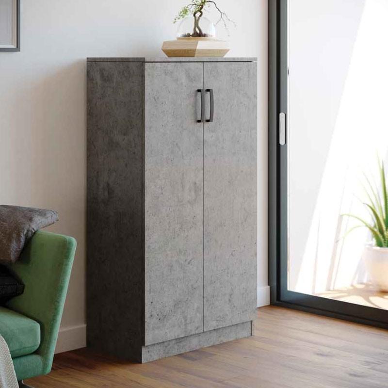 Armadio scarpiera multiuso grigio cemento legno nobilitato ...